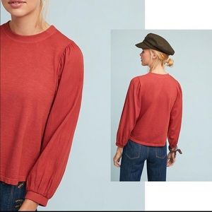 Anthropologie Amadi Drussel Top Rust Red Small